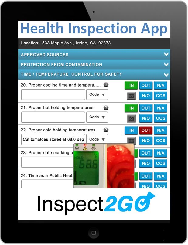 Mobile App with FDA 2013 Food Code