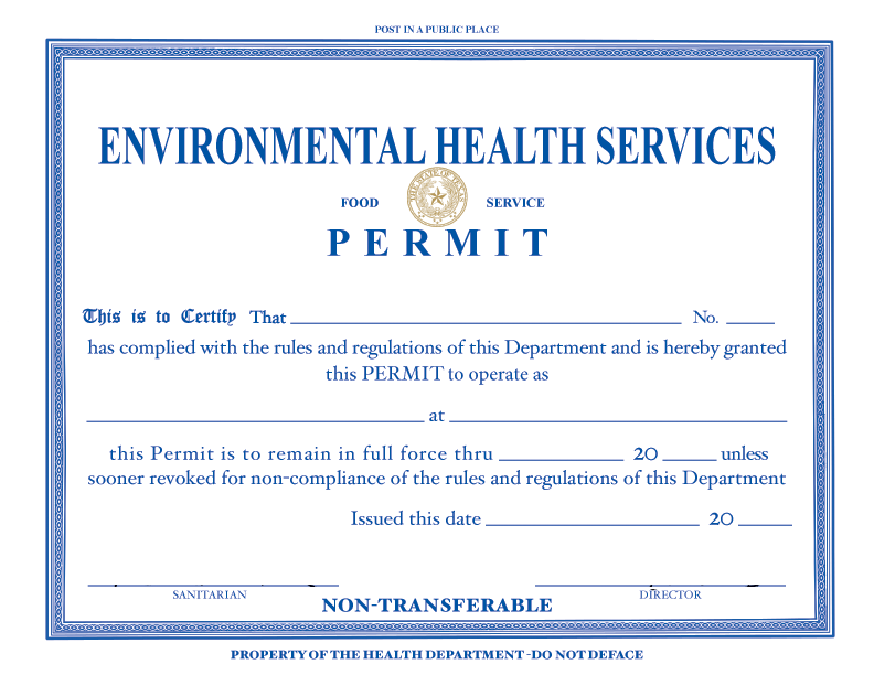 Food Establishment Permit
