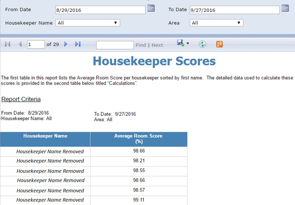 Housekeeping Inspection Software
