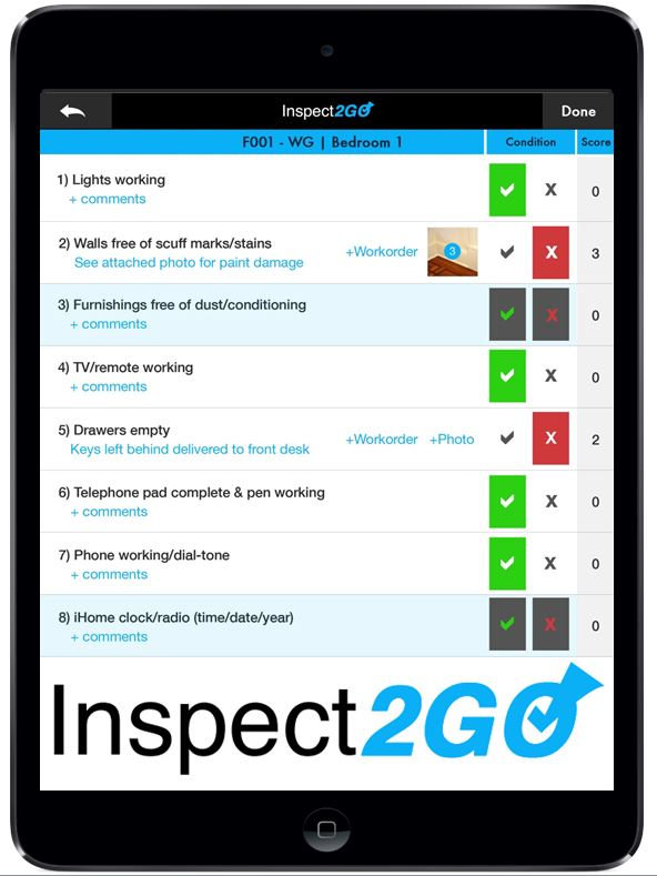 Room Inspection App Screenshot