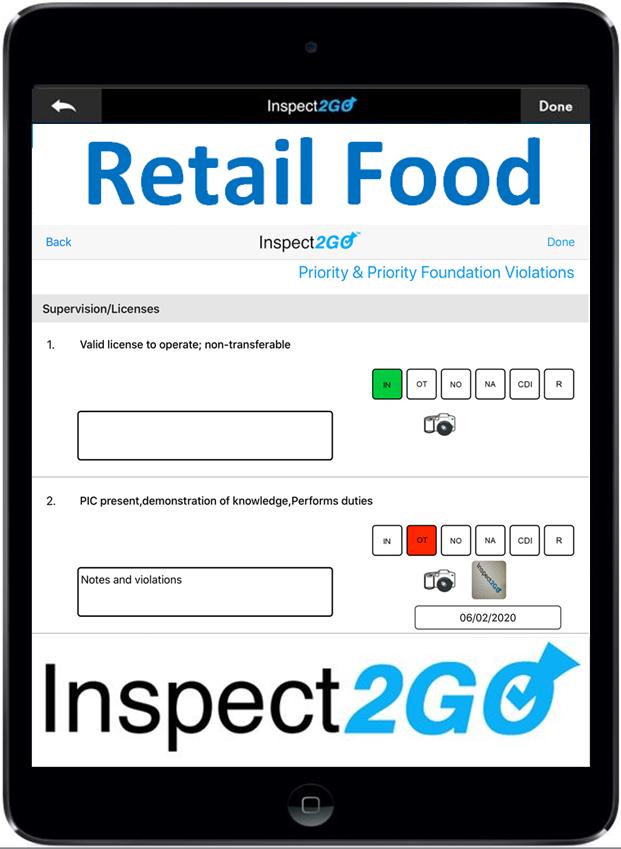 Retail Food Inspection App